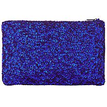 Buy John Lewis Giorgia Sequin Pouch, Blue Online at johnlewis.com