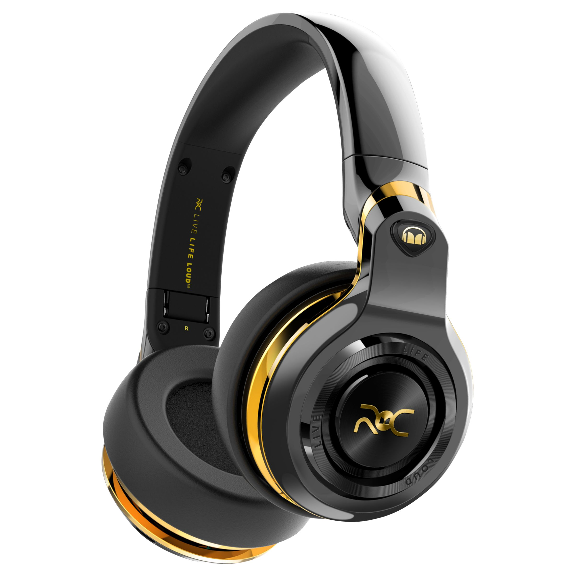 Monster Monster ROC Sport Black Platinum Wireless Over-Ear Headphones With Built-In Mic, Total Noise Isolation & Carry Case, Black