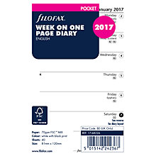 Buy Filofax Week Per Page 2017 Diary Inserts, Pocket Online at johnlewis.com