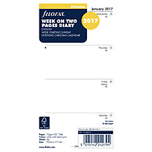Buy Filofax Week On 2 Pages 2017 Organiser Inserts, Personal Online at johnlewis.com