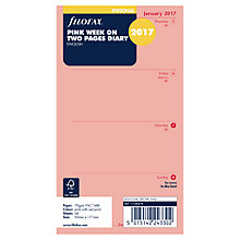 Buy Filofax Week On 2 Pages 2017 Personal Organiser Inserts, Pink Online at johnlewis.com