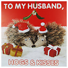 Buy Mint Husband Christmas Hogs Card Online at johnlewis.com