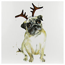 Buy Paper House Joyful Pug Christmas Card Online at johnlewis.com