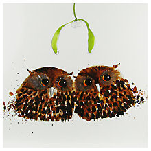 Buy Paper House Owlets Under The Mistletoe Christmas Card Online at johnlewis.com