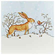 Buy Mint Little Nutbrown Hare And Robin Christmas Card Online at johnlewis.com