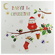 Buy Mint Baby's 1st Christmas Owl Card Online at johnlewis.com