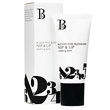 Buy Bloom and Blossom Nip and Lip Soothing Balm, 20ml Online at johnlewis.com