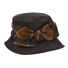 Buy Olney Nancy Tweed Bow Rain Hat, Black/Brown Online at johnlewis.com