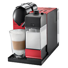 Buy Nespresso EN521.R Lattissima + Automatic Coffee Machine by De'Longhi, Red/Black Online at johnlewis.com