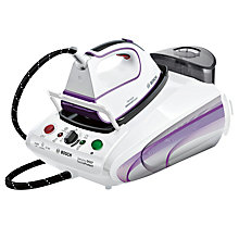 Buy Bosch Sensixx TDS3780GB ProHygienic Steam Generator Iron, White/ Magic Violet Online at johnlewis.com