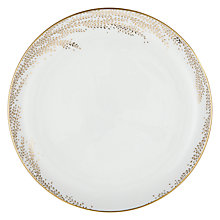 Buy John Lewis Contour Gold Willow 27.5cm Bone China Plate, White / Gold Online at johnlewis.com