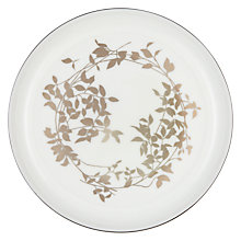 Buy John Lewis Contour Gold Garland Bone China 18cm Plate, White / Platinum Online at johnlewis.com