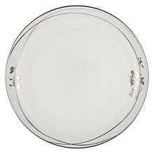 Buy John Lewis Contour Garland 27.5cm Bone China Plate, White / Gold Online at johnlewis.com