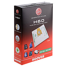 Buy Hoover H60 4-Pack Vacuum Cleaner Bags Online at johnlewis.com