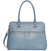 Buy Modalu Pippa Classic Leather Grab Bag, Slate Blue Online at johnlewis.com