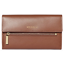 Buy Modalu Erin Contintental Leather Wallet, Walnut Online at johnlewis.com