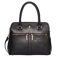 Buy Modalu Pippa Small Leather Grab Bag, Black Online at johnlewis.com