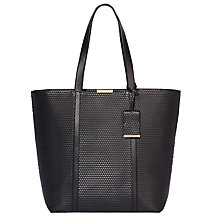Buy Modalu Betty Leather Shopper Bag, Black Cube Online at johnlewis.com