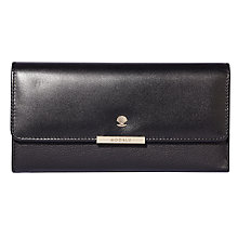 Buy Modalu Margot Leather Dropdown Purse, Black Online at johnlewis.com