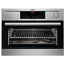 Buy AEG KS8404721M Built-In Multifunction Oven with Steam, Stainless Steel Online at johnlewis.com