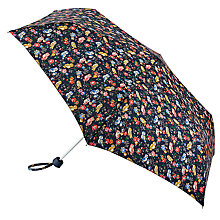 Buy Cath Kidston Mini Owls and Flower Minilite Umbrella, Navy/Multi Online at johnlewis.com