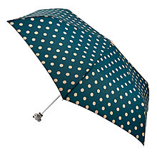Buy Cath Kidston Spot Print Umbrella, Rich Green Online at johnlewis.com
