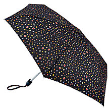 Buy Fulton Tiny-2 Micro Floral Umbrella, Black/Multi Online at johnlewis.com