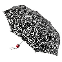 Buy Lulu Guinness Lips Colour Change Superlite Umbrella, Black/White Online at johnlewis.com