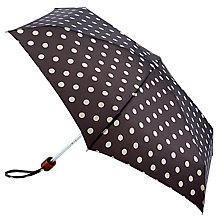 Buy Cath Kidston Button Spot Tiny Umbrella, Charcoal Online at johnlewis.com