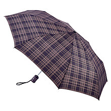 Buy Fulton Hoxton-2 Menzies Umbrella, Black/Grey Online at johnlewis.com
