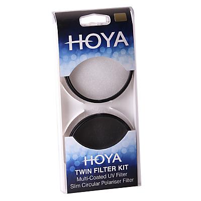Hoya 67mm Twin Lens Filter Pack With UV & Circular Polariser Filter