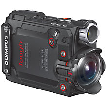 "Buy Olympus Tough TG-Tracker Waterproof Action Camera, 4K Ultra HD, 7.2MP, Ultra-Wide Angle Fixed Lens, Wi-Fi With 1.5"" Flip Monitor, Black Online at johnlewis.com"