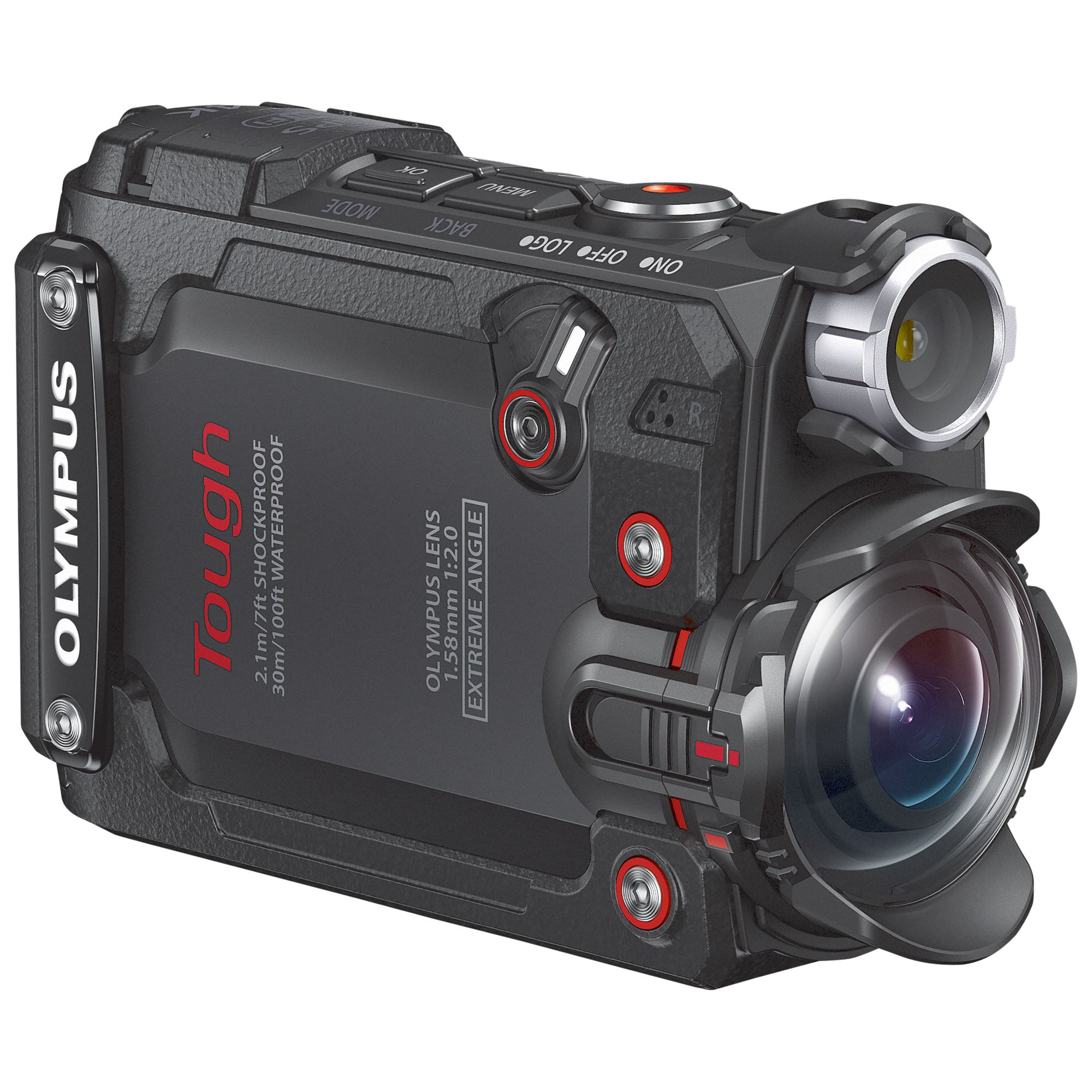 Olympus Olympus Tough TG-Tracker Waterproof Action Camera, 4K Ultra HD, 7.2MP, Ultra-Wide Angle Fixed Lens, Wi-Fi With 1.5 Flip Monitor, Black