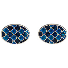 Buy Simon Carter Cycloid Cufflinks, Navy Online at johnlewis.com