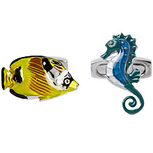 Buy Simon Carter Under the Sea Cufflinks, Multi Online at johnlewis.com