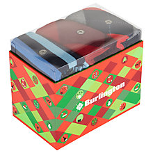 Buy Burlington Sock Gift Box, Pack of 3, One Size, Red/Blue Online at johnlewis.com