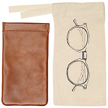 Buy John Lewis Leather Glasses Case, Brown Online at johnlewis.com