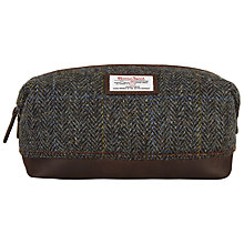 Buy John Lewis Harris Tweed Wash Bag, Brown Online at johnlewis.com
