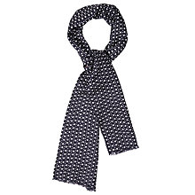Buy Paul Smith Punch Sport Lightweight Silk Scarf, Navy/Burgundy Online at johnlewis.com