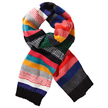 Buy Paul Smith Stripe Wool Mohair Scarf, Multi Online at johnlewis.com