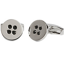 Buy Simon Carter Swarovski Crystal Button Cufflinks, Black Online at johnlewis.com