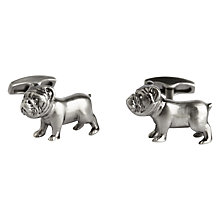 Buy Simon Carter Bulldog Cufflinks, Gunmetal Online at johnlewis.com