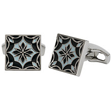 Buy Simon Carter for John Lewis Archive Enamel Tile Cufflinks, Navy Online at johnlewis.com