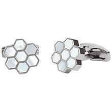 Buy Simon Carter Honeycomb Mother of Pearl Cufflinks, Gunmetal Online at johnlewis.com