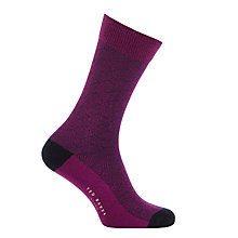 Buy Ted Baker Round Fil Coupe Socks, One Size, Purple Online at johnlewis.com