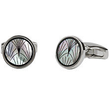 Buy Simon Carter for John Lewis Archive Mother of Pearl Fan Cufflinks, Black Online at johnlewis.com