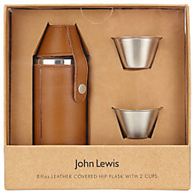 Buy John Lewis Hip Flask and Shot Glass, Brown Online at johnlewis.com