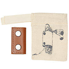 Buy John Lewis Leather Earphone Holder, Brown Online at johnlewis.com
