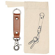Buy John Lewis Leather Keyring, Brown Online at johnlewis.com