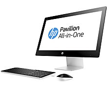 "Buy HP Pavilion 23-q272na All-in-One Desktop PC, Intel Core i7, 8GB RAM, 2TB, 23"", Blizzard White Online at johnlewis.com"
